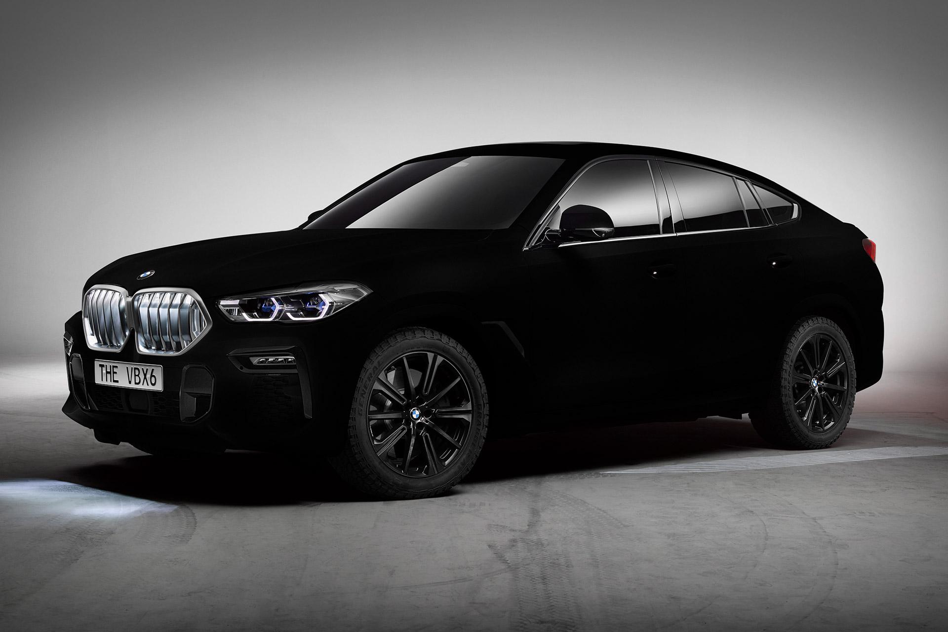 BMW Vantablack X6 SUV