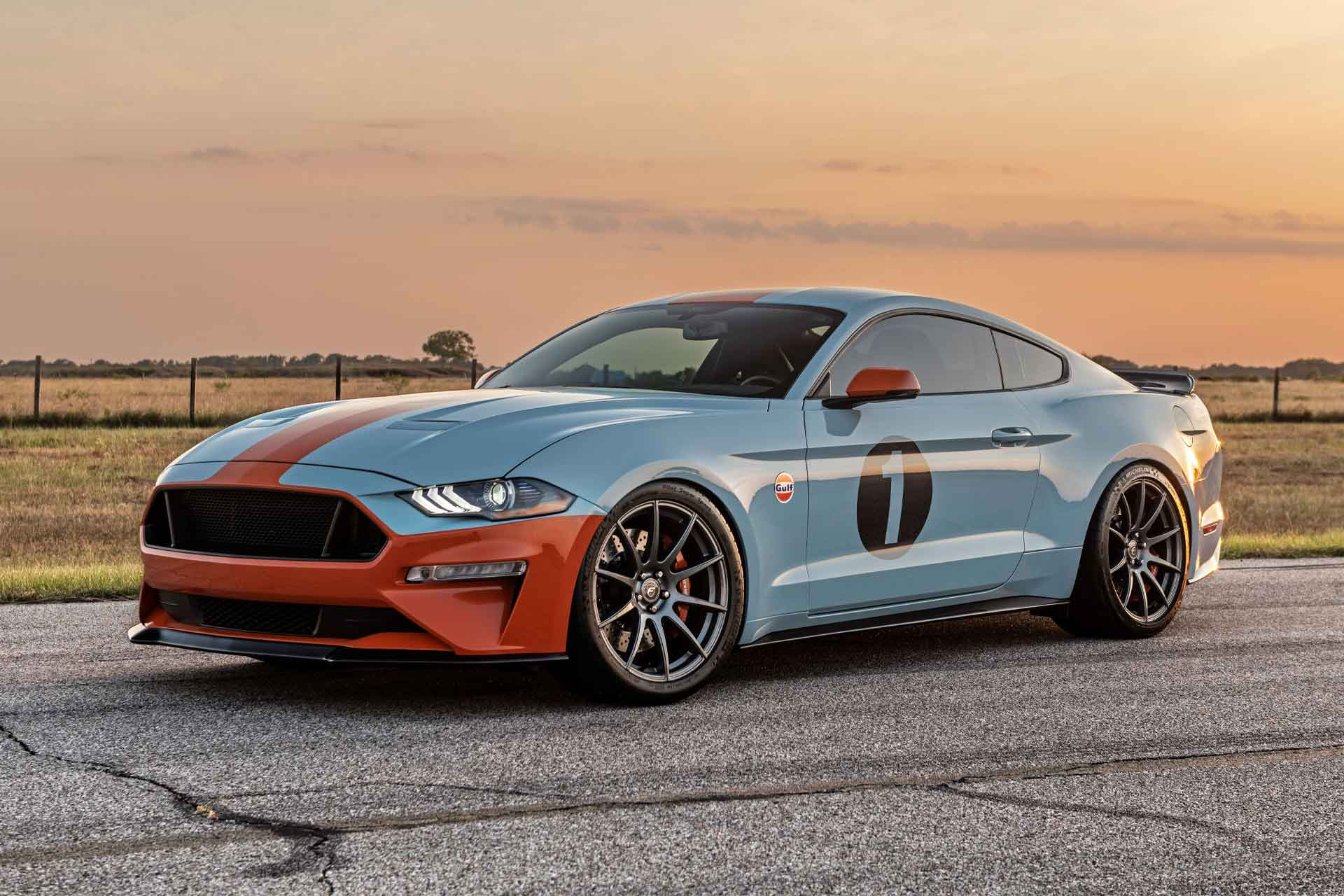 2019 Gulf Heritage Edition Mustang Coupe