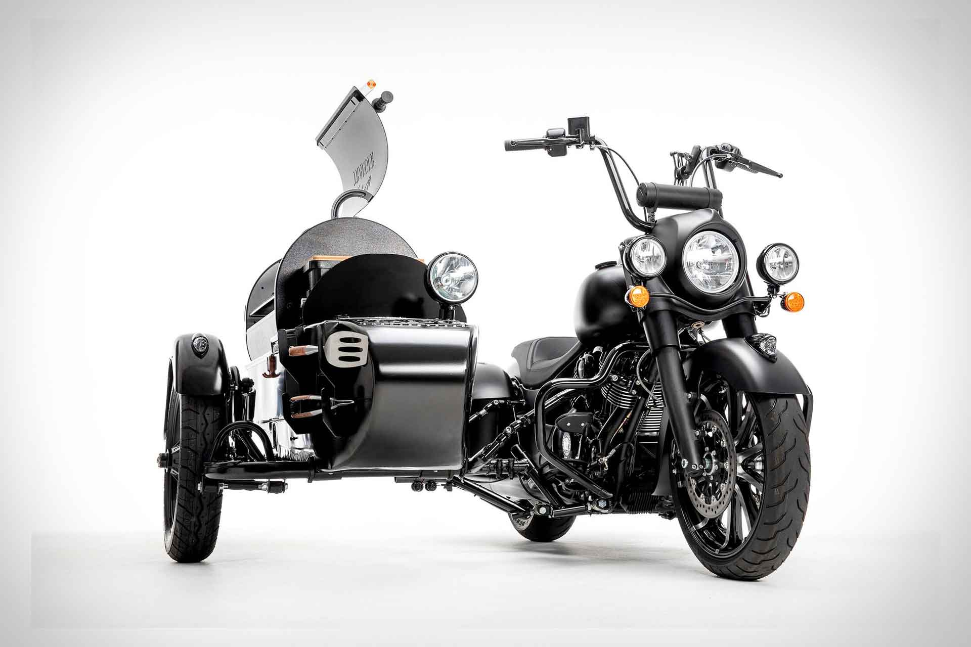 Indian x Traeger Wood-Fired Grill Motorcycle