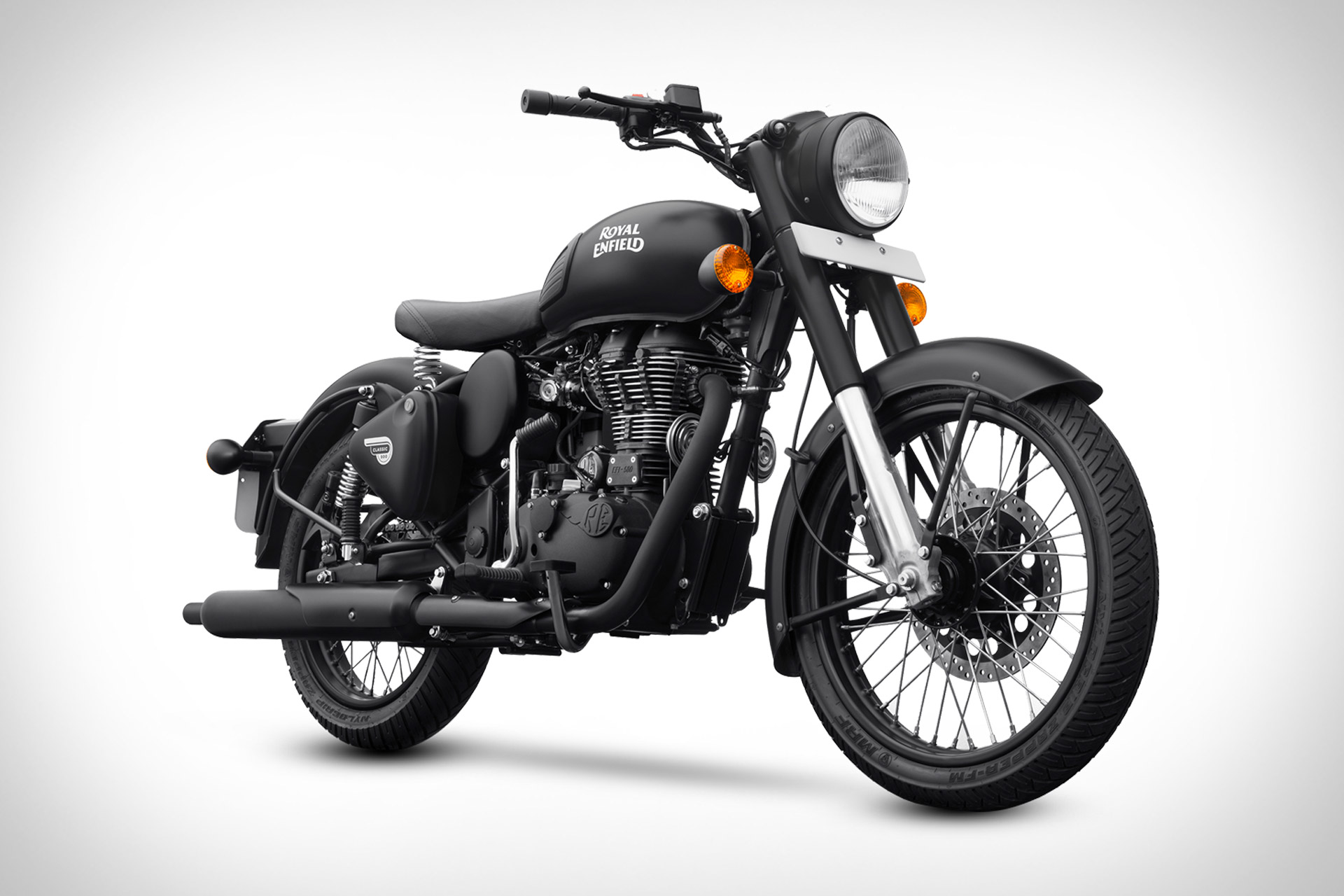 Royal Enfield Classic 500 Stealth Black Motorcycle