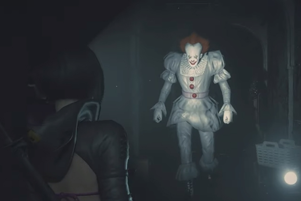 Pennywise Invades Resident Evil 2