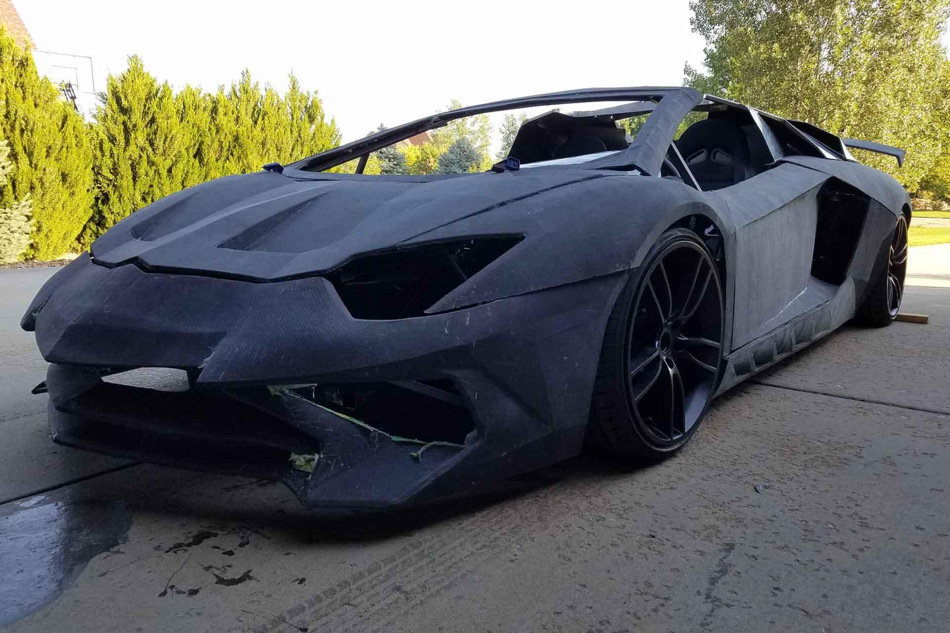 3-D-Printed Lamborghini Aventador Spider