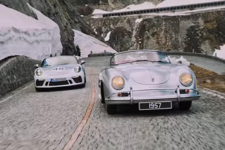 Porsche At The Gotthard Pass