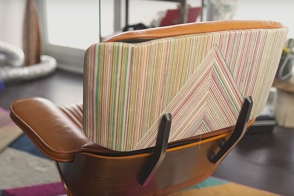 Recycled Skateboard Eames Lounge Chair
