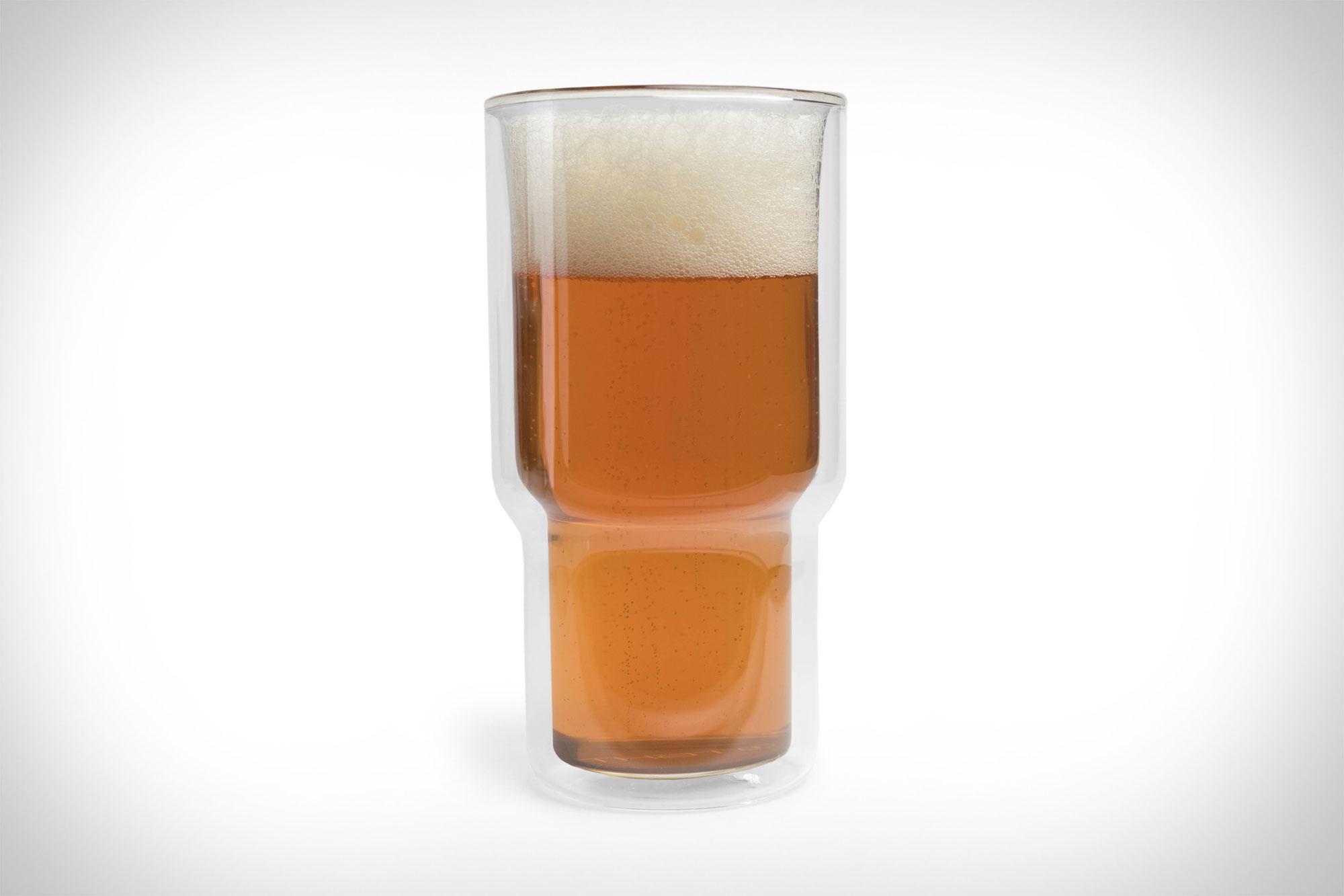 Doppelwandige Biergläser