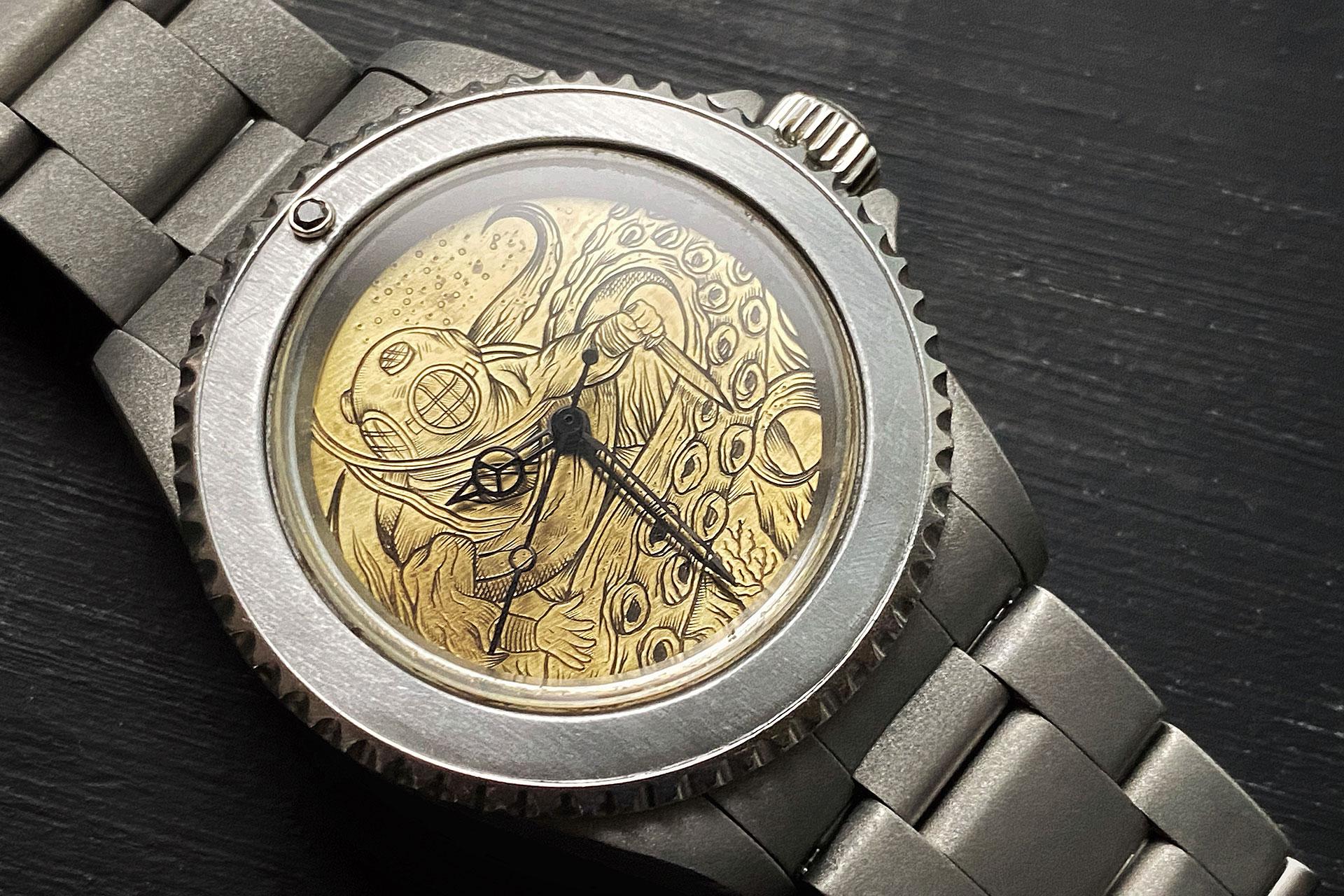 Mister Enthusiast x King Nerd Engraved Rolex Submariner Watch
