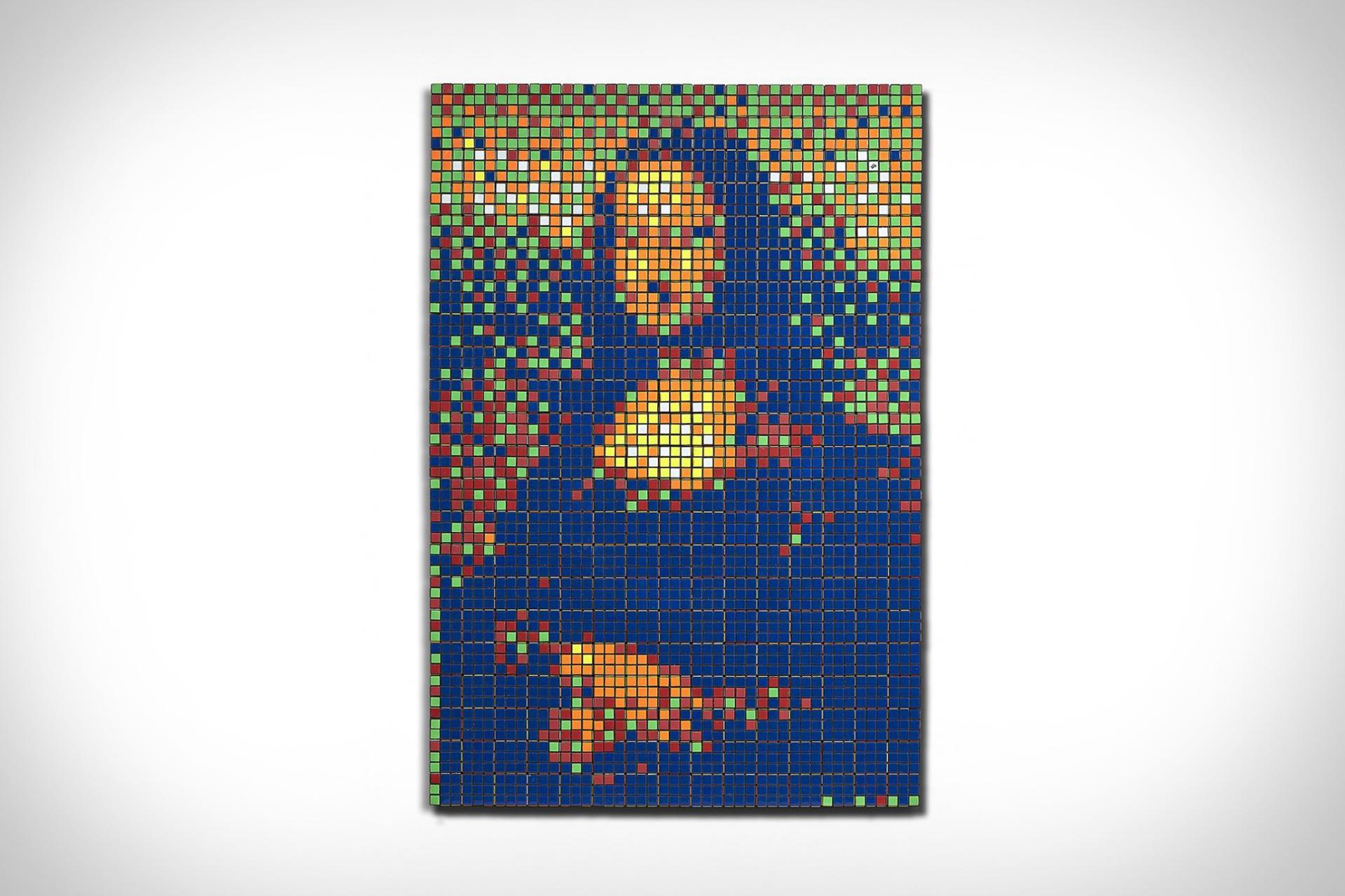Invader's Rubik Mona Lisa