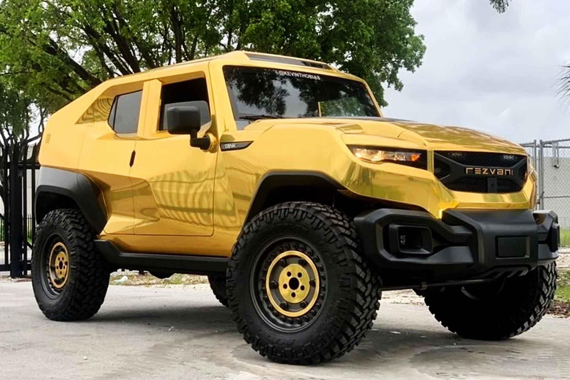 Gold Rezvani Tank Suv Uncrate